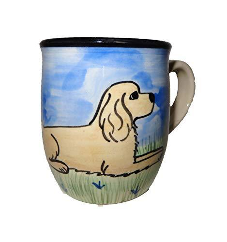 Cocker Spaniel, Buff, Hand-Painted Ceramic Mug