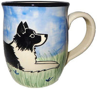 Border Collie Hand-Painted Ceramic Mug