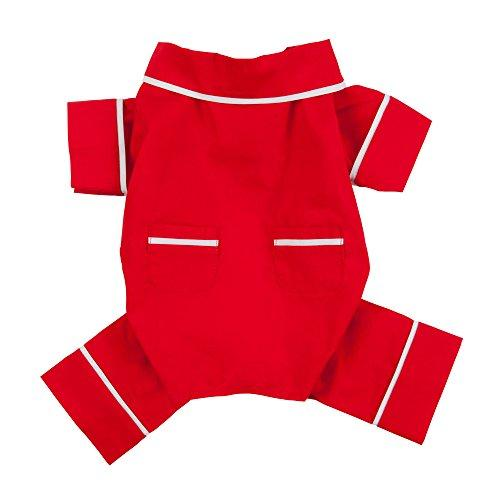 Red Poplin Dog Pajamas
