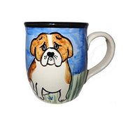 Bulldog Hand-Painted Ceramic Mug