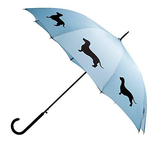 Dachshund Umbrella - Light Blue & Black