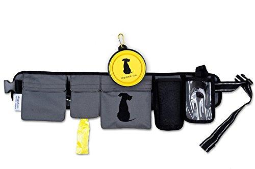 FreshStart DogiPack Hands Free and Organizational Dog Walking Belt (Grey)