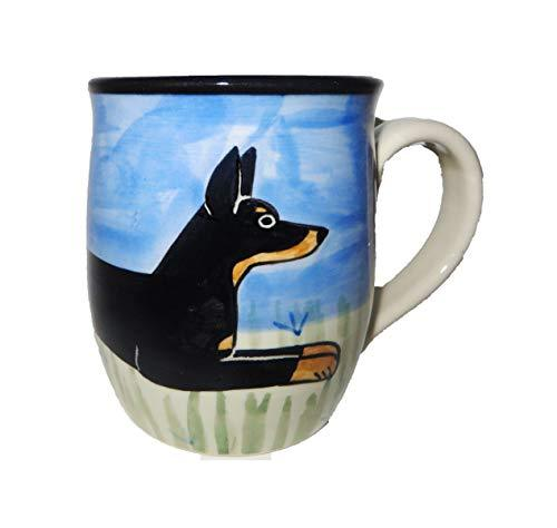 Doberman Pinscher Hand-Painted Ceramic Mug