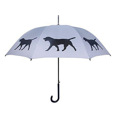 Labrador Retriever Umbrella - Silver & Black