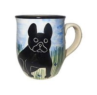 French Bulldog, Black, Hand-Painted Ceramic Mug