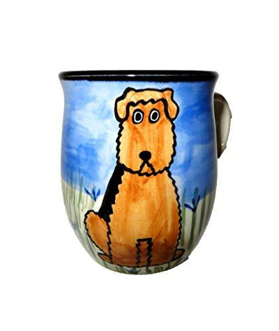 Airedale Terrier Hand-Painted Ceramic Mug