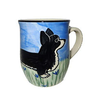 Cardigan Welsh Corgi, Black and White, Hand-Painted Ceramic Mug