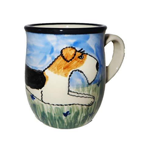 Wire Fox Terrier Hand-Painted Ceramic Mug