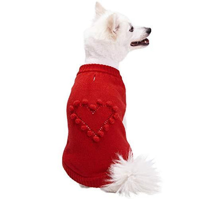 Valentine Heart Dog Sweater