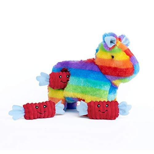 ZippyPaws Burrow Interactive Squeaky Hide and Seek Piñata Plush Dog Toy
