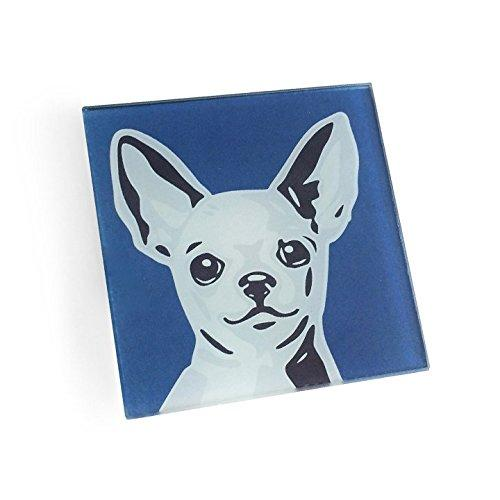 Chihuahua Hand Crafted Glass Dog Coasters