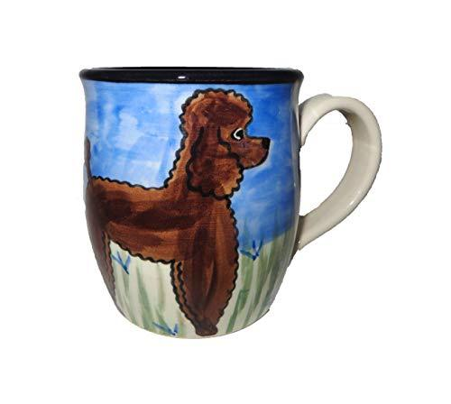 Poodle, Chocolate, Hand-Painted Ceramic Mug