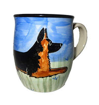 German Shepherd Dog Hand-Painted Ceramic Mug