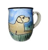 Labrador Retriever, Yellow, Hand-Painted Ceramic Mug
