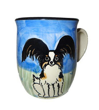 Papillon, Tri-colored, Hand-Painted Ceramic Mug