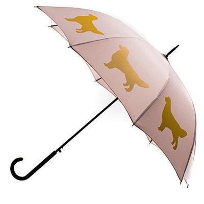Golden Retriever Umbrella - Pink & Gold