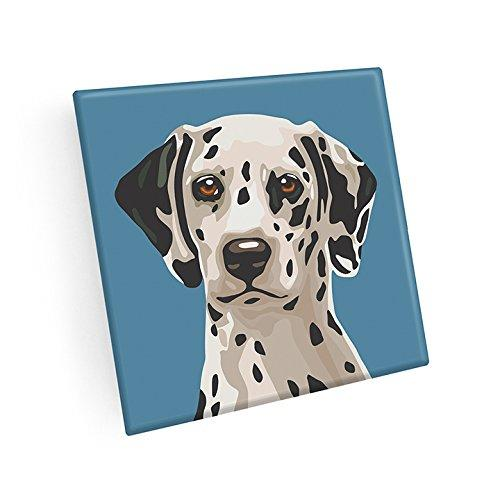 Dalmatian Hand Crafted Glass Dog Coasters
