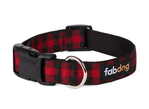 Nylon Buffalo Check Dog Collar