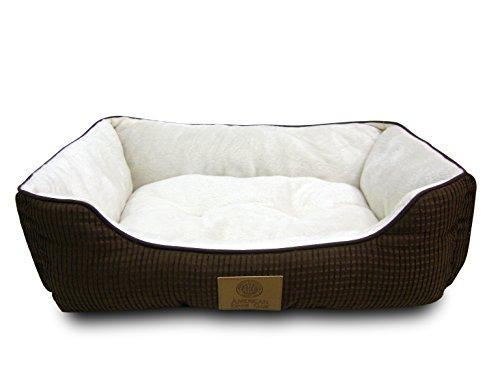 AKC Box Weave Solid Cuddler Dog Bed