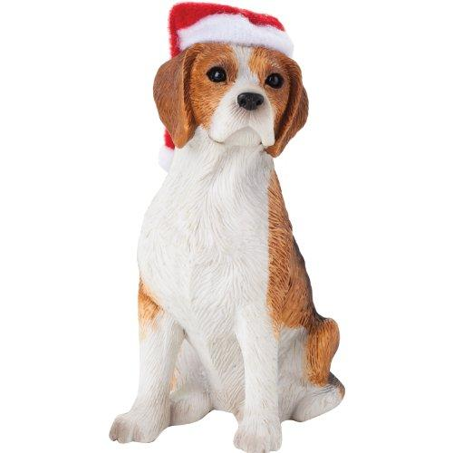 Beagle with Santa Hat Christmas Ornament