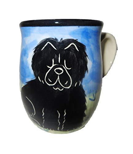 Chow Chow, Black, Hand-Painted Ceramic Mug