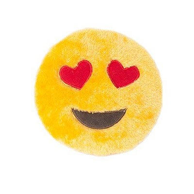 Heart Eyes Squeakie Emojiz Stuffed Plushie Dog Toy