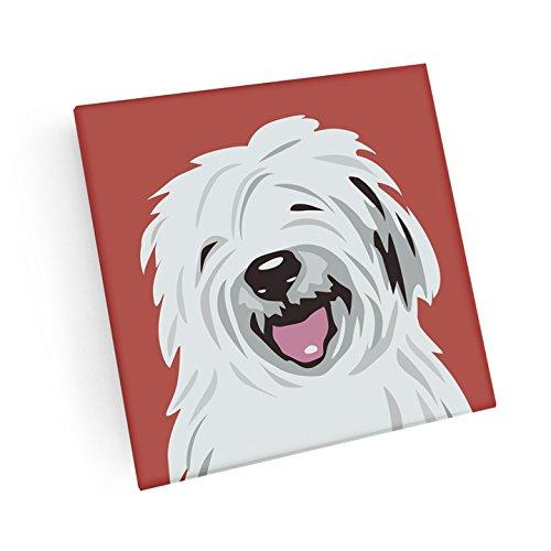 Old English Sheepdog Hand Crafted Glass Dog Coasters