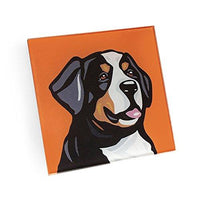 Bernese Mountain Dog Hand Crafted Glass Dog Coasters