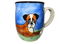 Boxer, Natural Ear, Hand-Painted Ceramic Mug