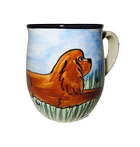 Cavalier King Charles Spaniel, Ruby, Hand-Painted Ceramic Mug