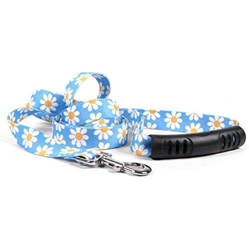 Yellow Dog Design Blue Daisy Ez-Grip Dog Leash