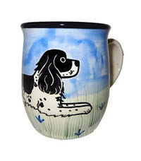 Cocker Spaniel, Black and white, Hand-Painted Ceramic Mug