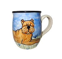 Chinese Shar-Pei, Brown, Hand-Painted Ceramic Mug