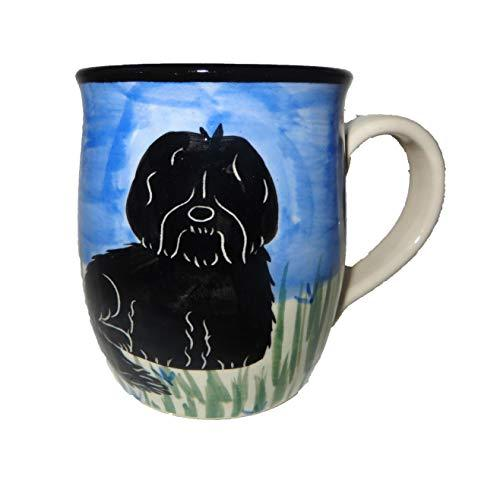 Havenese, Black, Hand-Painted Ceramic Mug