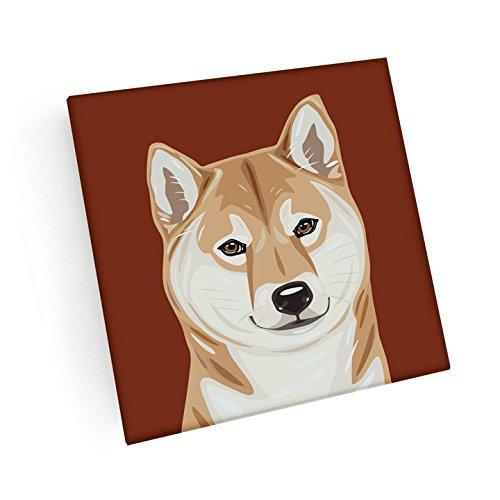 Shiba Inu Hand Crafted Glass Dog Coasters