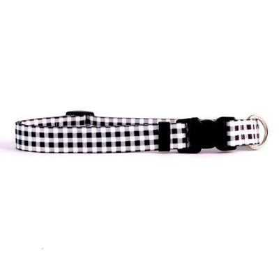 Yellow Dog Design Gingham Black Dog Collar