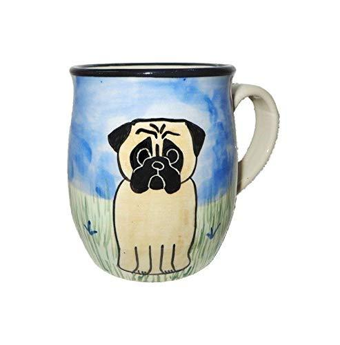 Pug, Fawn, Hand-Painted Ceramic Mug