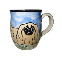 Pekingese Hand-Painted Ceramic Mug