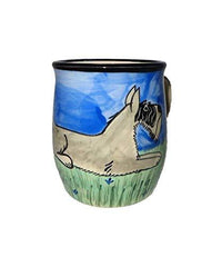 Schnauzer Hand-Painted Ceramic Mug