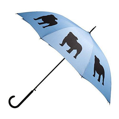 Bulldog Umbrella - Blue & Black