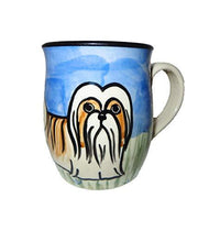 Shih Tzu, Brown and White, Hand-Painted Ceramic Mug