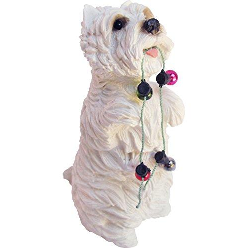 West Highland White Terrier with Holiday Lights Ornament
