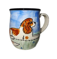 Cavalier King Charles Spaniel, Blenheim, Hand-Painted Ceramic Mug