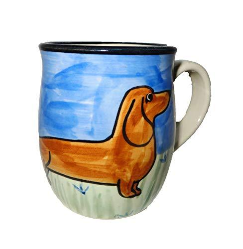 Dachshund, Brown, Hand-Painted Ceramic Mug