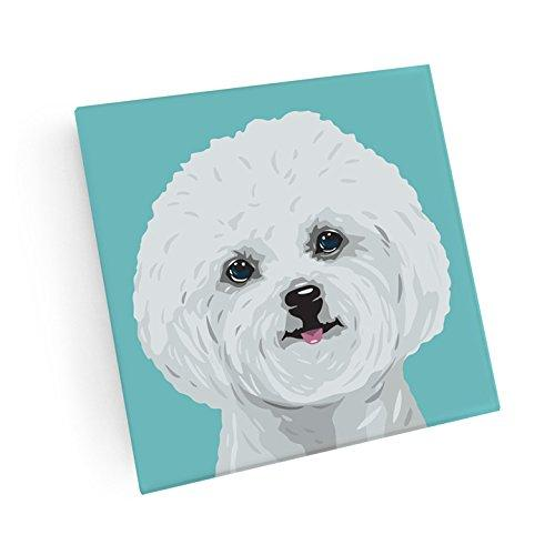 Bichon Frise Hand Crafted Glass Dog Coasters