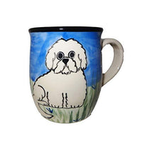 Maltese, Puppy Cut, Hand-Painted Ceramic Mug