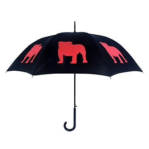 Bulldog Umbrella - Black & Red