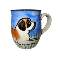 Saint Bernard Hand-Painted Ceramic Mug