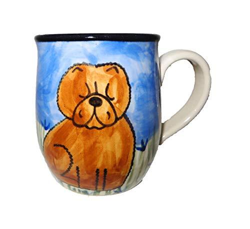 Chow Chow, Red, Hand-Painted Ceramic Mug
