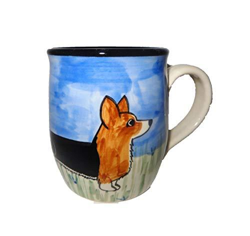 Cardigan Welsh Corgi, Tri-Colored, Hand-Painted Ceramic Mug